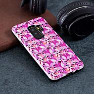 Недорогие Чехлы и кейсы для Galaxy S7-Кейс для Назначение SSamsung Galaxy S9 Plus / S9 С узором Кейс на заднюю панель Цветы Твердый ПК для S9 / S9 Plus / S8 Plus