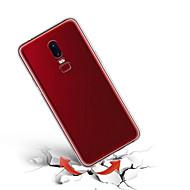お買い得  携帯電話ケース-ケース 用途 OnePlus OnePlus 6 / OnePlus 5T 超薄型 バックカバー ソリッド ソフト TPU のために OnePlus 6 / One Plus 5 / OnePlus 5T
