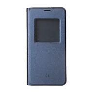 olcso Mobiltelefon tokok-Case Kompatibilitás LG Q6 Állvánnyal / Betekintő ablakkal / Flip Héjtok Egyszínű Kemény PU bőr mert LG Q6
