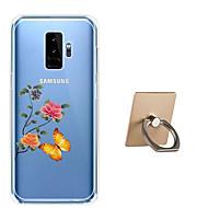 Недорогие Чехлы и кейсы для Galaxy S9 Plus-Кейс для Назначение SSamsung Galaxy S9 Plus / S9 С узором Кейс на заднюю панель Бабочка / Цветы Мягкий ТПУ для S9 / S9 Plus