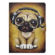 Недорогие Чехлы и кейсы для Galaxy Tab 3 10.1-Кейс для Назначение SSamsung Galaxy Tab 3 10.1 Бумажник для карт / Защита от удара / со стендом Чехол С собакой Твердый Кожа PU для Tab 3 10.1