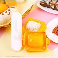 お買い得  キッチン用小物-キッチンツール プラスチック 新デザイン DIYの金型 おにぎり 3本