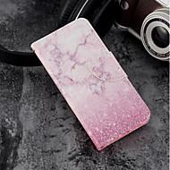 お買い得  携帯電話ケース-ケース 用途 Huawei P20 / P20 lite ウォレット / カードホルダー / スタンド付き フルボディーケース マーブル ハード PUレザー のために Huawei P20 / Huawei P20 lite / P10 Lite