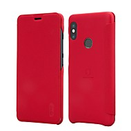 お買い得  携帯電話ケース-ケース 用途 Xiaomi Redmi Note 5 Pro Xiaomi Mi Mix 2S カードホルダー フリップ つや消し フルボディーケース ソリッド ハード PUレザー のために Xiaomi Redmi注5 Xiaomi Redmi Note 5 Pro