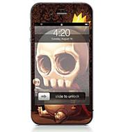 Недорогие Защитные плёнки для экрана iPhone-1 ед. Наклейки для Защита от царапин Черепа Узор PVC iPhone 4/4S