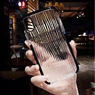 Недорогие Кейсы для iPhone 8-Кейс для Назначение Apple iPhone X / iPhone 8 Прозрачный Кейс на заднюю панель Полосы / волосы Мягкий ТПУ для iPhone X / iPhone 8 Pluss /