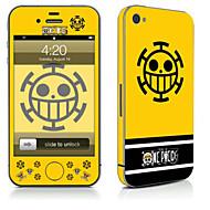 Недорогие Защитные плёнки для экрана iPhone-1 ед. Наклейки для Защита от царапин Мультипликация Узор PVC iPhone 4/4S