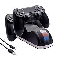 billige PS4-tilbehør-Ledning Oplader Til PS4 Prop / PS4 Slim / Sony PS4 Kreativ Oplader ABS 1pcs enhed 100cm USB 2.0