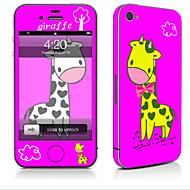 Недорогие Защитные плёнки для экрана iPhone-1 ед. Наклейки для Защита от царапин Животное Узор PVC iPhone 4/4S