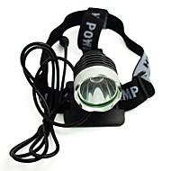 お買い得  フラッシュライト/ランタン/ライト-自転車用ヘッドライト LED 自転車用ライト サイクリング 防水, パータブル, 旅行サイズ 充電式リチウムイオン電池 / USB 300 lm 充電式 ホワイト キャンプ / ハイキング / ケイビング / サイクリング