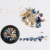 abordables Maquillaje y manicura-1pcs Joyería de uñas Diamante de imitación Cristal / Estilo Rhinestone Ropa Cotidiana Nail Art Design