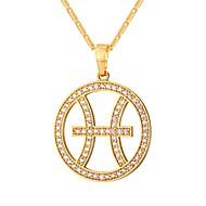 お買い得  -キュービックジルコニア ペンダントネックレス  -  ファッション ゴールド, シルバー 55 cm ネックレス 用途 日常