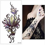 abordables Tatuajes Temporales-3 pcs Tatuajes Adhesivos Los tatuajes temporales Series de Flor Artes de cuerpo muñeca