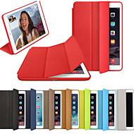 voordelige iPad-hoesjes/covers-hoesje Voor Apple iPad (2018) / iPad (2017) Flip / Magnetisch / Origami Volledig hoesje Effen Hard PU-nahka voor iPad (2018) / iPad 4/3/2