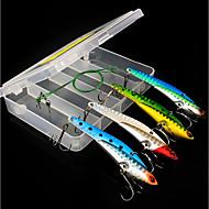 お買い得  釣り用アクセサリー-4 pcs ハードベイト メタルベイト メタリック 海釣り / フライフィッシング / ベイトキャスティング / 穴釣り / スピニング / ジギング / 川釣り / 鯉釣り