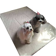 abordables -Perros / Gatos / Mascotas Camas Mascotas Mantas Un Color Portátil / Mini / Acampada y Senderismo Blanco / Beige / Rosa Para mascotas