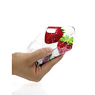 Недорогие Кейсы для iPhone 8-Кейс для Назначение Apple iPhone X / iPhone 7 Ультратонкий / С узором / Милый Кейс на заднюю панель Фрукты Мягкий ТПУ для iPhone X /