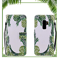 Недорогие Чехлы и кейсы для Galaxy S9-Кейс для Назначение SSamsung Galaxy S9 / S9 Plus Кошелек / Флип Чехол дерево Твердый Кожа PU для S9 Plus / S9