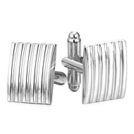 お買い得  -長方形 シルバー / ゴールデン カフスボタン 銅 シンプル / ファッション 男性用 コスチュームジュエリー 用途 日常