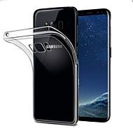 Недорогие Чехлы и кейсы для Galaxy S8-Кейс для Назначение SSamsung Galaxy S8 Прозрачный Кейс на заднюю панель Однотонный Мягкий ТПУ для S8