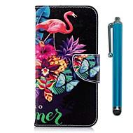 Недорогие Чехлы и кейсы для Galaxy S8 Plus-Кейс для Назначение SSamsung Galaxy S9 Plus / S9 Кошелек / Бумажник для карт / со стендом Чехол Фламинго Твердый Кожа PU для S9 / S9 Plus / S8 Plus