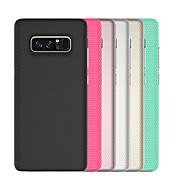 Недорогие Чехлы и кейсы для Galaxy Note-Кейс для Назначение SSamsung Galaxy Note 8 Защита от удара Кейс на заднюю панель Однотонный броня Твердый ПК для Note 8