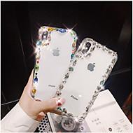 Недорогие Кейсы для iPhone 8 Plus-Кейс для Назначение Apple iPhone X iPhone 7 Plus Стразы Кейс на заднюю панель Блеск Твердый ТПУ для iPhone X iPhone 8 Pluss iPhone 8
