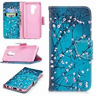 お買い得  携帯電話ケース-ケース 用途 LG K10 2018 / G7 カードホルダー / ウォレット / スタンド付き フルボディーケース フラワー ハード PUレザー のために LG V30 / LG V20 / LG Q6