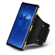 Недорогие Чехлы и кейсы для Galaxy S7-Кейс для Назначение SSamsung Galaxy S9 Plus / S9 Спортивныеповязки / Защита от удара / со стендом Кейс на заднюю панель броня Твердый ПК для S9 / S9 Plus / S8 Plus