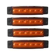 Недорогие Внешние огни для авто-ZIQIAO 4шт Автомобиль Лампы 1.5W SMD LED 120lm 6 Внешние осветительные приборы For Универсальный Универсальный Все года