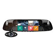 Недорогие Видеорегистраторы для авто-Anytek B33 1080p Новый дизайн / Ночное видение / Двойной объектив Автомобильный видеорегистратор 170° Широкий угол 5 дюймовый IPS Капюшон