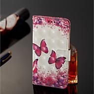 preiswerte Handyhüllen-Hülle Für Xiaomi Redmi Note 5 Pro / Xiaomi Mi Mix 2S Geldbeutel / Kreditkartenfächer / mit Halterung Ganzkörper-Gehäuse Schmetterling Hart PU-Leder für Xiaomi Redmi Note 5 Pro / Xiaomi Mi Mix 2S