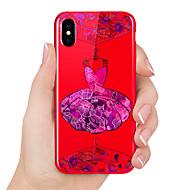 Недорогие Кейсы для iPhone 8-Кейс для Назначение Apple iPhone X / iPhone 8 Рельефный / С узором Кейс на заднюю панель Соблазнительная девушка Мягкий ТПУ для iPhone X / iPhone 8 Pluss / iPhone 8