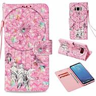 Недорогие Чехлы и кейсы для Galaxy S8-Кейс для Назначение SSamsung Galaxy S8 Кошелек / Бумажник для карт / со стендом Чехол Ловец снов Твердый Кожа PU для S8