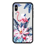 Недорогие Кейсы для iPhone 8-Кейс для Назначение Apple iPhone X / iPhone 8 Plus С узором Кейс на заднюю панель Растения / Фламинго / Цветы Твердый Акрил для iPhone X / iPhone 8 Pluss / iPhone 8
