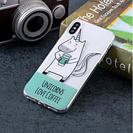 Недорогие Кейсы для iPhone 8-Кейс для Назначение Apple iPhone X / iPhone 8 IMD / С узором Кейс на заднюю панель единорогом Мягкий ТПУ для iPhone X / iPhone 8 Pluss / iPhone 8
