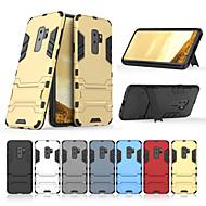 Недорогие Чехлы и кейсы для Galaxy S9 Plus-Кейс для Назначение SSamsung Galaxy S9 Plus со стендом Кейс на заднюю панель Однотонный Твердый ПК для S9 Plus