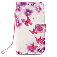 cheap -Case For Apple iPhone X / iPhone 8 Card Holder / with Stand / Flip Full Body Cases Butterfly Hard PU Leather for iPhone X / iPhone 8 Plus / iPhone 8