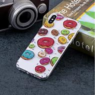Недорогие Кейсы для iPhone 8 Plus-Кейс для Назначение Apple iPhone X / iPhone 8 IMD / С узором Кейс на заднюю панель Продукты питания Мягкий ТПУ для iPhone X / iPhone 8 Pluss / iPhone 8