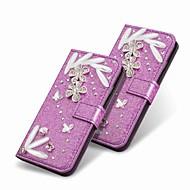 preiswerte Handyhüllen-Hülle Für Huawei P20 Pro / P20 lite Geldbeutel / Strass / mit Halterung Ganzkörper-Gehäuse Glänzender Schein Hart PU-Leder für Huawei P20