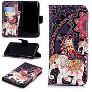 Недорогие Чехлы и кейсы для Galaxy S8 Plus-Кейс для Назначение SSamsung Galaxy S9 Plus / S9 Кошелек / Бумажник для карт / со стендом Чехол Слон / Цветы Твердый Кожа PU для S9 / S9 Plus / S8 Plus