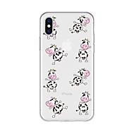 cheap -Case For Apple iPhone X / iPhone 8 Plus Pattern Back Cover Animal / Cartoon Soft TPU for iPhone X / iPhone 8 Plus / iPhone 8