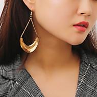 여성용 롱 드랍 귀걸이 링 귀걸이 귀걸이 숙녀 세련 단순한 유행의 보석류 골드 / 실버 제품 선물 일상 1 쌍