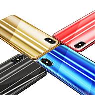 Недорогие Кейсы для iPhone 8-Кейс для Назначение Apple iPhone X / iPhone 8 Покрытие / Зеркальная поверхность Кейс на заднюю панель Градиент цвета Твердый Закаленное