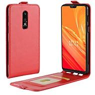 お買い得  携帯電話ケース-ケース 用途 OnePlus OnePlus 6 / OnePlus 5T カードホルダー / フリップ フルボディーケース ソリッド ハード PUレザー のために OnePlus 6 / One Plus 5 / OnePlus 5T