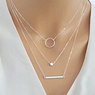 cheap Jewelry & Watches-Women's Layered Layered Necklace - Simple, European, Fashion Gold, Silver 40 cm Necklace Jewelry 1pc For Daily