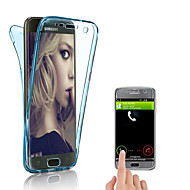 Недорогие Чехлы и кейсы для Galaxy S-Кейс для Назначение SSamsung Galaxy S9 Plus / S9 Прозрачный Кейс на заднюю панель Однотонный Мягкий ТПУ для S9 / S9 Plus / S8 Plus
