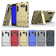 Недорогие Чехлы и кейсы для Galaxy Note-Кейс для Назначение SSamsung Galaxy Note 5 со стендом Кейс на заднюю панель Однотонный Твердый ПК для Note 5