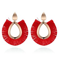 cheap -Women's Sculpture Hoop Earrings - Vintage, Ethnic, Fashion Rainbow / Red / Green For Evening Party / Birthday