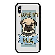 Недорогие Кейсы для iPhone 8 Plus-Кейс для Назначение Apple iPhone X / iPhone 8 Plus С узором Кейс на заднюю панель С собакой / Слова / выражения / Мультипликация Твердый Акрил для iPhone X / iPhone 8 Pluss / iPhone 8